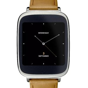 Asus zenwatch stainless steel case brown leather